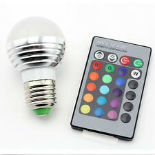 SUPERNIGHT E27 3W RGB LED Light Bulb Lamp Lighting Multi Color Changing Dimmable