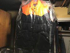 Men's Large Polo Vest Dark Blue Orange Plaid Classic Ralph Lauren