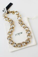 Authentic J.CREW CLASSIC CLEAR CRYSTAL NECKLACE  item e8909