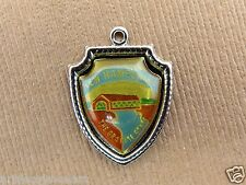 Vintage silver NEW HAMPSHIRE THE GRANITE STATE BRIDGE TRAVEL SHIELD charm #2 #S