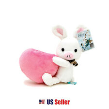"Korean Drama ""You are Beautiful"" Pig Rabbit Plush Toy Holder : Pink Heart"