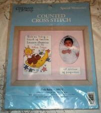 Candamar Special Memories Pink Baby Counted Cross Stitch Kit 50911 Girl 10X8 NEW