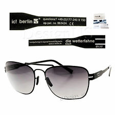 ic! berlin die wetterfahne Black Sunglasses - Made in Germany - New