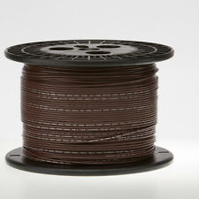 "18 AWG Gauge Solid Hook Up Wire Brown 250 ft 0.0403"" UL1007 300 Volts"