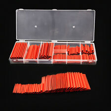 127PCS Assortment 2:1 Heat Shrink Tube Tubing Red Sleeving Wrap Cable Wire Kit