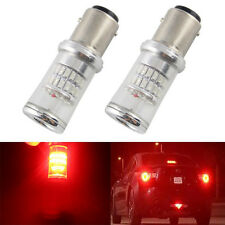 2PCS Red 1157 BAY15D 48SMD 3014 LED Tail Light Bulb Turn Signal Light 12V DC
