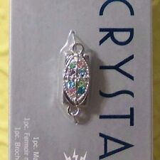 Crystazzi~Jewelry Supply~Marquis Magnetic Clasp Multi~Silver~4846929~New