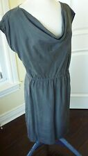 Coldwater Creek Dress size L 14/16 gray with Cowl Neck drape New with tag