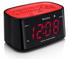 Westclox Bluetooth Digital Alarm Clock Radio 81014