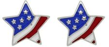 2 pc Snap button star flag  metal snap buttons fit Ginger snap 18mm