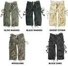 SURPLUS RAW VINTAGE 3/4 LENGTH MENS US MILITARY ENGINEER COMBAT CARGO SHORTS