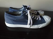JACK PURCELL CONVERSE Blue Distressed Low Lace Tie Sneakers Shoes Size 12