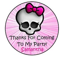 24 MONSTER HIGH PERSONALIZED BIRTHDAY THANK YOU FOR COMING PARTY STICKERS FAVORS