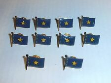 Wholesale Lot of 10 Dem. Rep. Of Congo Flag Lapel Pin, Brass Finish, BRAND NEW