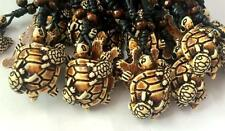 4 necklace Vintage Black Wax Cotton Cord  Resin Turtle Mother and Child Jewelry