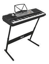 Njs 61 Key Digital Portátil Teclado Piano Mains & Batería Portátil Con Z Stand
