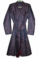 NEW SULKA VINTAGE SILK ROBE DRESSING GOWN Sz S-M
