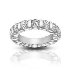 5.00 ct Ladies Round Cut Diamond Eternity Band Ring Bar Setting In Platinum