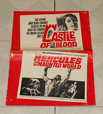 original CASTLE OF BLOOD &HERCULES IN THE HAUNTED WORLD pressbook Barbara Steele