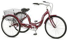 Adult Tricycle Single Speed 3 Three Wheel Bike Schwinn Aluminum 26 Bicycle Trike