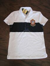 Rugby Ralph Lauren Womens Crest Polo Short Sleeve Shirt Medium New NWT M