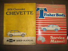 1976 CHEVROLET CHEVETTE FACTORY REPAIR SHOP MANUAL & FISHER BODY SERVICE MANUAL