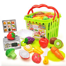 13 kinds Plastic Cutting Fruits and Vegetables Set Pretend Play Toys for Kids