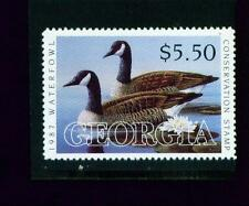 Georgia State Duck Stamp 1987 $5.50 at face value