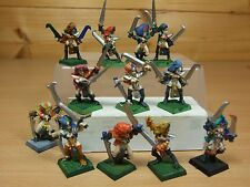12 CLASSIC METAL DARK ELF WYCHES  WITCHES WITCH ELVES PAINTED (1280)