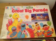 Sesame Street: Great Big Parade, 1989 Vintage Board Game, VGC