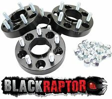 Black Raptor 30mm Jeep Wrangler Grand Cherokee Commander Wheel Spacers 5x127 PCD