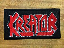 New Kreator Sew Iron On Patch Rock Band Thrash Metal Heavy Logo Music Embroidere