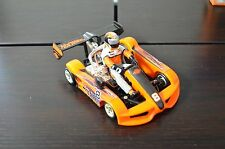 Loose Hot Wheels Orange Go Kart w/Driver #8