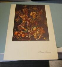 1961 Home Lines SS Homeric Cruise Ship Menu Neapolitan Still Life Cover Art