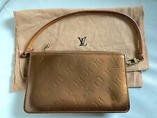 LOUIS VUITTON BRONZE PATENT LEATHER POCHETTE MINI BAG