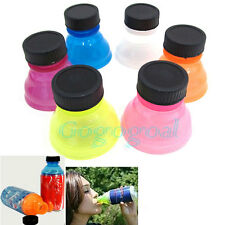 6PCS Snappy Caps Snap Bottle Top Can Cover Fizz Coke Drink Soda Lid Cap Reusable