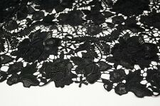 black Venice lace/FLORAL EMBROIDERY LACE/ FABRIC/1yard*1.31yard/3D flowers