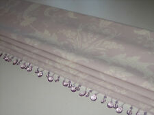 NEW Laura Ashley Josette Toile Amethyst Linen Fabric Beaded Trim Roman Blind