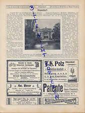 DÜSSELDORF, Werbung 1900, Post-Karten-Ansichten Kunst-Halle Apollo-Theater Rhein