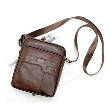 Fashion Men's Genuine Leather Shoulder Bag Messanger Bag Casual Satchel Brown