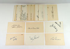 Lot of (44) Different 1920's to 1960's Baseball 3 x 5 Index Cards Autos