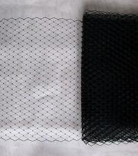 Hutnetz Schleier schwarz 1 Meter birdcage für Hüte Fascinator Hochzeit Tüll DIY