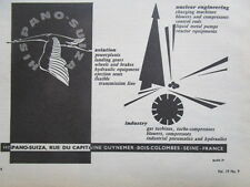 1963-66 PUB HISPANO-SUIZA BOIS-COLOMBES AVIATION CIGOGNE NUCLEAR INDUSTRY AD