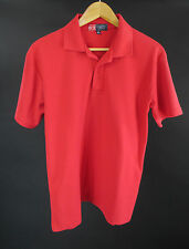 Cambridge Classics Red 3 Button Polo Golf Shirt Size M