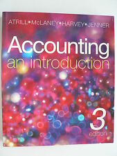 ACCOUNTING: AN INTRODUCTION  3RD Ed. ATRILL, McLANEY, HARVEY, JENNER -NO CD-ROM.