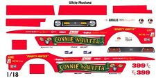 Connie Kalitta Mustang Funny Car /1/18th Scale WATERSLIDE DECALs