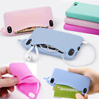 Card Holder Cute Big Mouth Whale Silicone Back Case Cover For IPhone 4S/SE/5S/6S