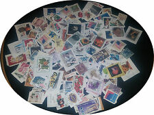 lot of 200 all DIFFERENT United States Postage Stamps used NO Duplicates Various