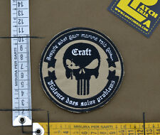 "Ricamata / Embroidered Patch ""Craft Chris Kyle"" Coy. Tan with VELCRO® brand hook"