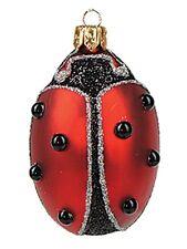 Lady Bug Polish Mouth Blown Glass Christmas Ornament Tree Decoration